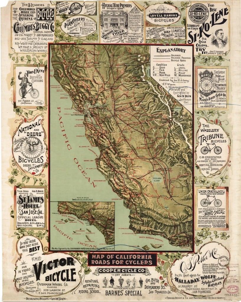 California Bike Map