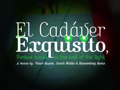 El Cadáver Exquisito Website Layout