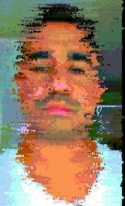 Glitched self-portraits