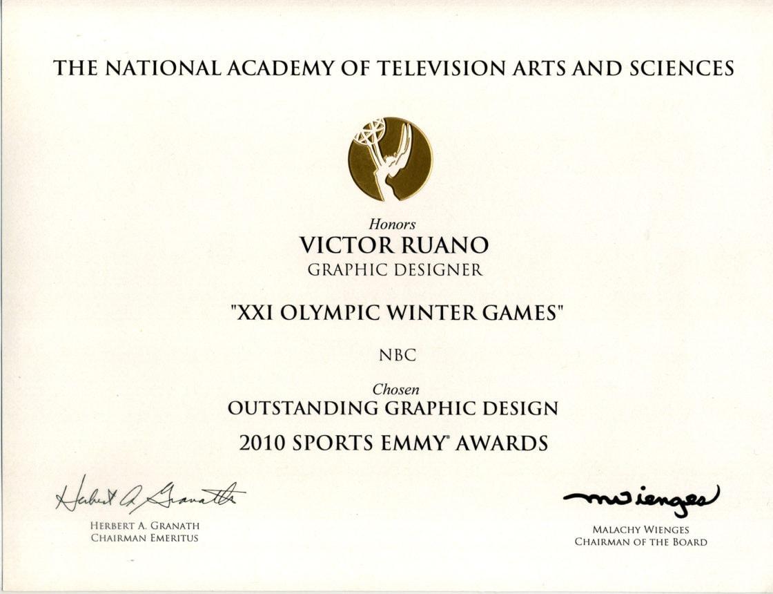 diploma-emmy-2010-victor-ruano-santasombra certificates