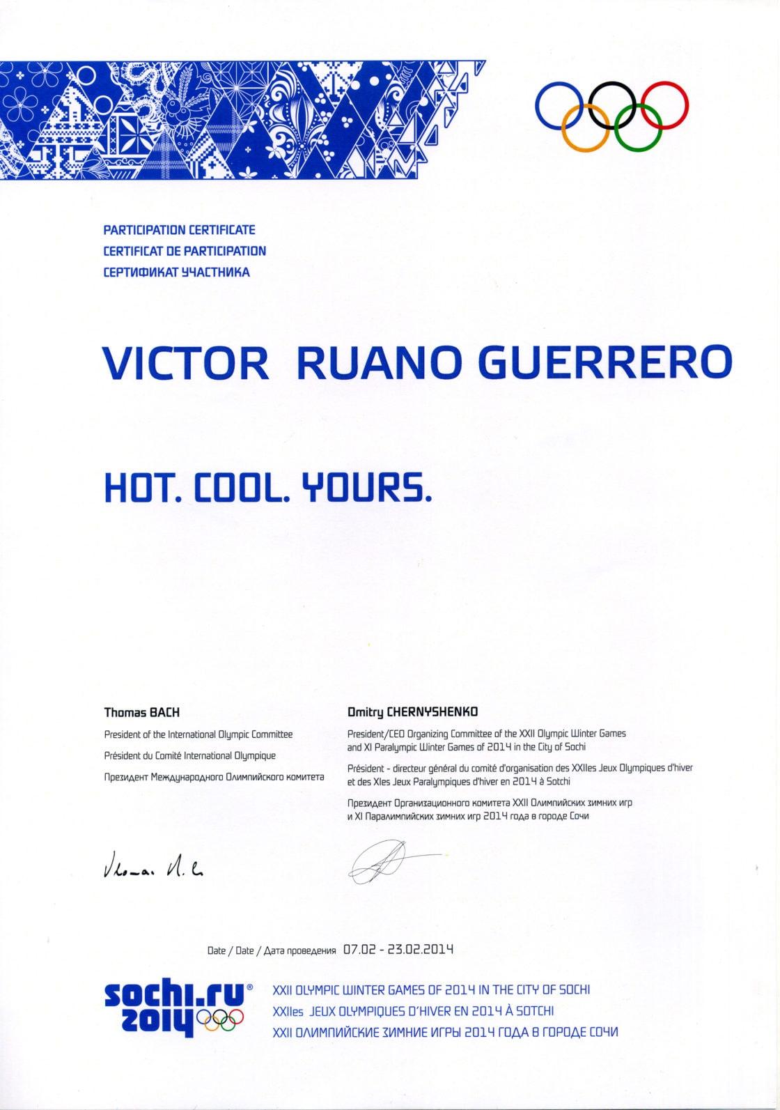 diploma-sochi-olympics-victor-ruano-santasombra Sochi